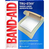 20CT Band-Aid Brand Tru-Stay Adhesive Pads Large Deals