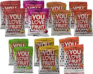 You Love Fruit Premium Organic Handmade Fruit Leather Certified Kosher Variety 14 oz (Double Variety Pack)