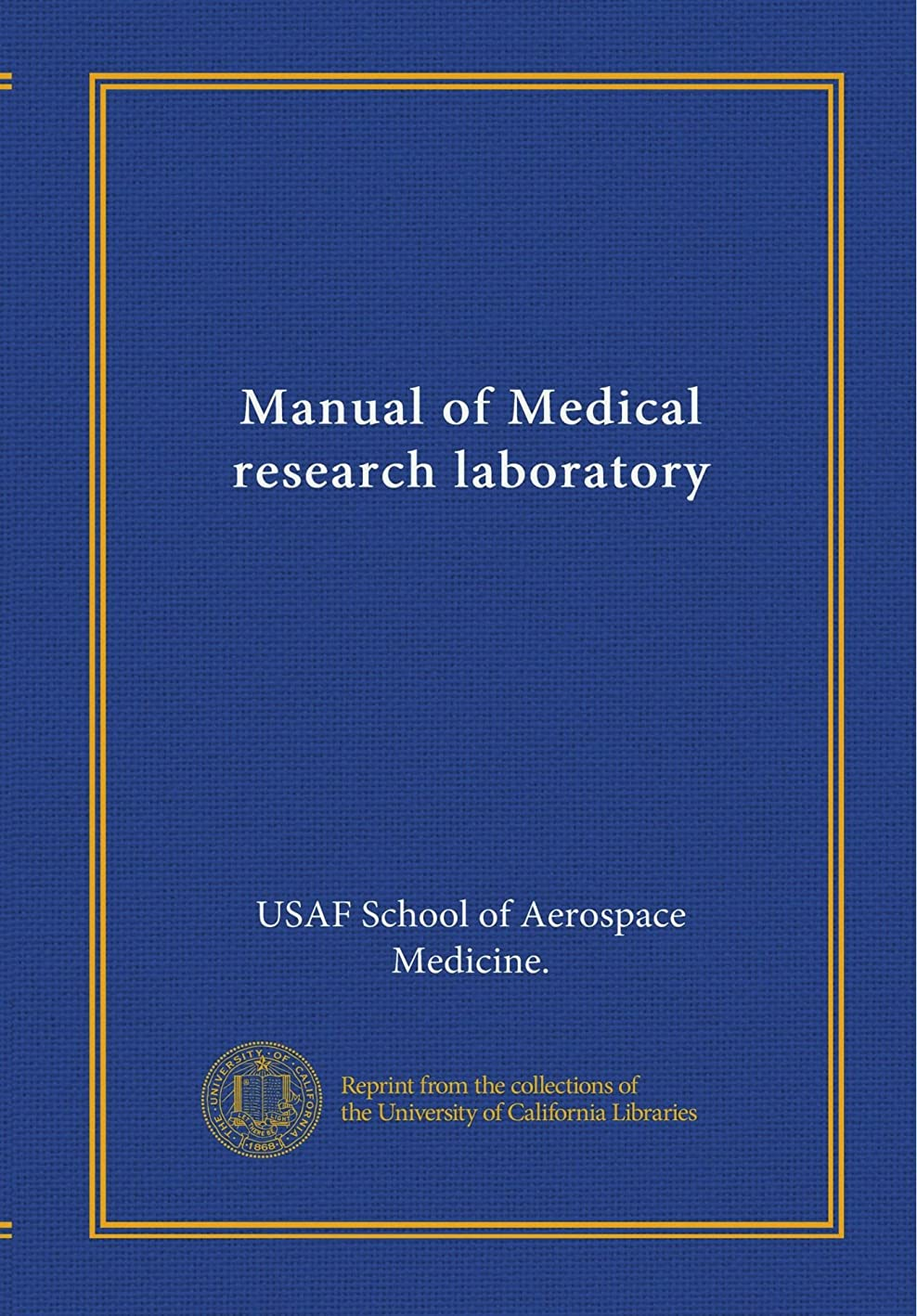 軽蔑する道を作るビーチManual of Medical research laboratory