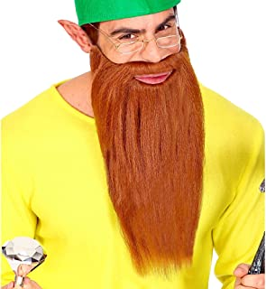 Widmann 01526 - Barba larga con bigote para varios personajes, color marrón, talla única , color/modelo surtido