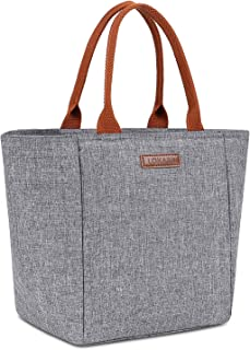 LOKASS Lunch Bag Cooler Bag Food Insulated Bag Lunch Box Tote Bag Picnic Heat Preservation Cold Bag for Women Adults Work Office (Upgraded Version Grey)