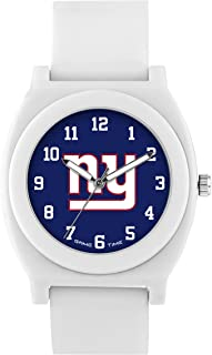 Game Time Women's 'Fan' Quartz Plastic and Rubber Casual Watch, Color:White (Model: NFL-FNW-NYG)