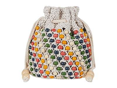 Madewell Beaded Drawcord Clutch (Bright Ember Multi) Handbags