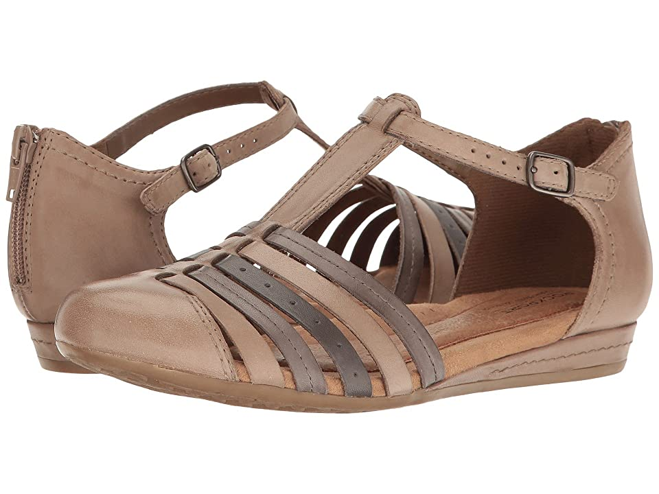 Rockport Cobb Hill Collection Cobb Hill Galway Strappy T (Khaki Multi Leather) Women