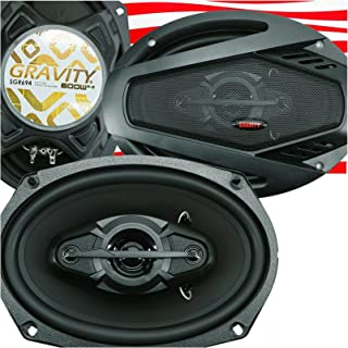 $39 » Gravity SGR694 6x9-Inch 4-Way 600 Watts Maximum Power Handling Car Audio Full Range Speakers Alpha Solid Rubber Cones Comp...