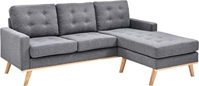 Christies Home Living Shelby Sofa, Gray