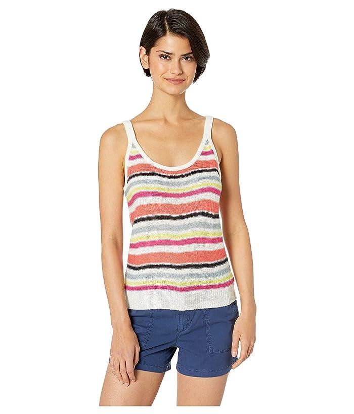 Cupcakes and Cashmere Aeon Multi Stripe Sweater Tank (Ivory) Women