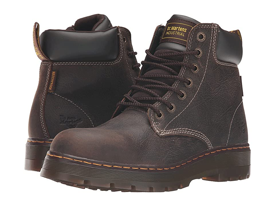 Dr. Martens Winch Service Waterproof 7-Eye Boot (Brown Crisscross Waterproof) Men