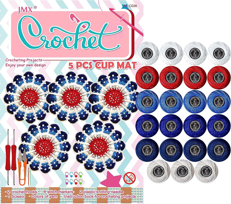 Crochet Kits 23 favorite Cotton Yarn Includes Balls 2 Hoo New product