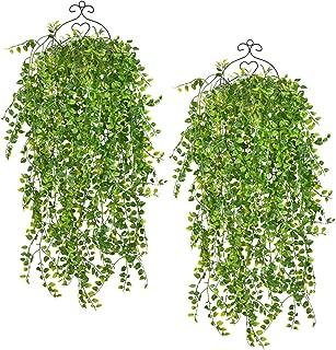SunmboutiqueArtificialHanging PlantsVinesFernsPersianRattans,Greenery HangingQueen BostonIvy withUVResistantPerformance forSafari Jungle Party WeddingHanging Basket Decor, 31