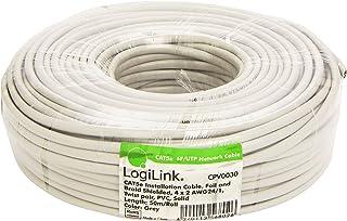 LogiLink CPV0030 Cable de instalación Cat5e SFTP, Gris, 50
