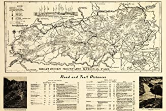 Great Smoky Mountains National Park, Tennesseee - (1941) - Panoramic Map (12x18 Art Print, Wall Decor Travel Poster)