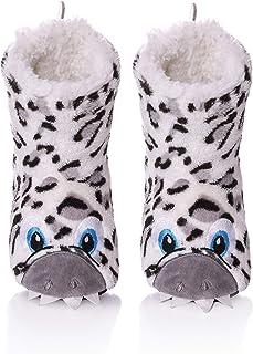 TRUEHAN Unisex 3D Cute Animal Lightweight Toddler Kids Bootie Slippers Girls Boys Indoor/Outdoor Plush Soft Warm Non-Slip House Shoes