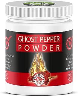 Smoked, Ghost Chili Pepper Powder (Bhut Jolokia) -16 Oz (454 gm) , 100% PURE, NON GMO,NO PRESERVATIVE, NO ADDITIVE ) Organically Grown