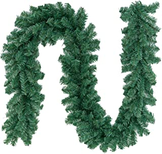Max4out 8.8 ft Christmas Garland Artificial Spruce Decoration, Xmas Pine Garland for Fireplace, Mantel, Stairs Railings and Doorway, Front Door
