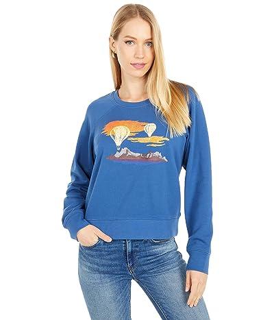 Madewell Shrunken Sweatshirt (Dark Mediterranean) Women