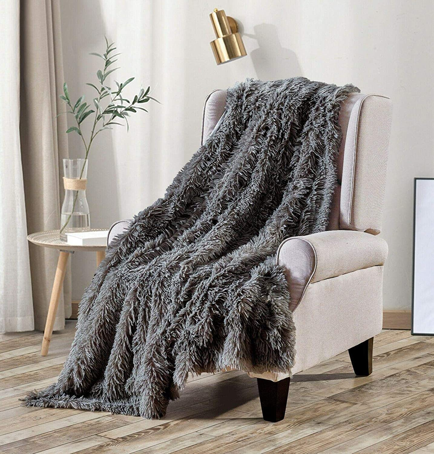 Long Shaggy Faux Super special price Fur Throw Blanket Fluffy Plush Re Furry Selling and selling