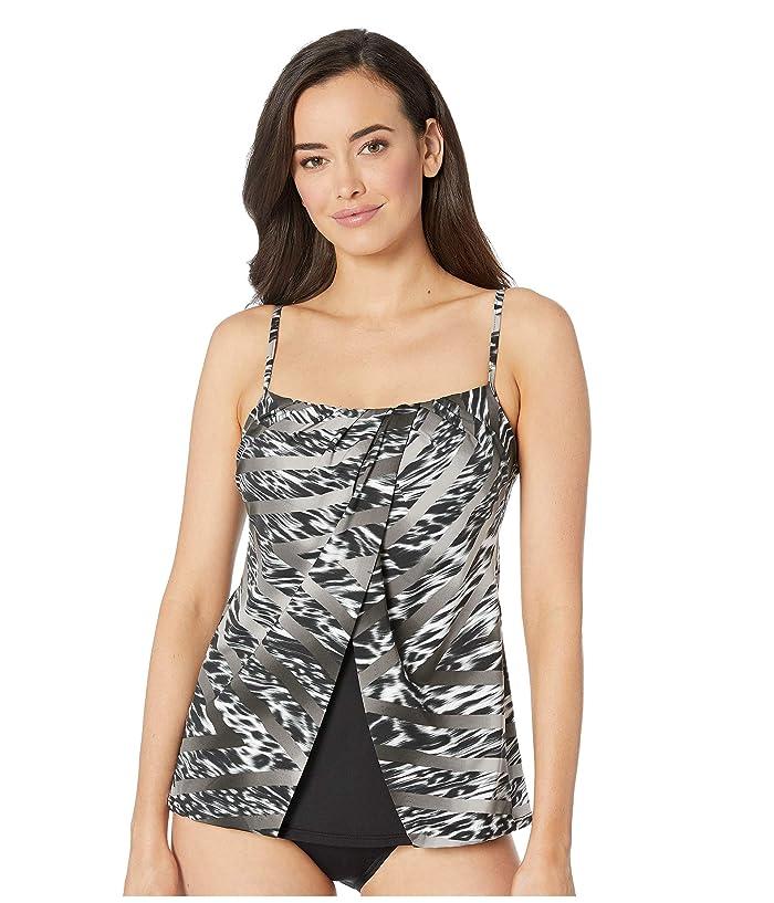 d50694a791041 Miraclesuit Feline Fixation Jubilee Top (Black/White) Women's Swimwear