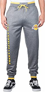 Ultra Game Men's Standard NBA Jogger Pants Active Basic Bounce Fleece Sweatpants, Charcoal Heather, X-Large