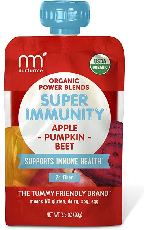 NurturMe Power Blends Organic Baby Food Pouch Apple Pumpkin Beet 3 5 Ounce Pack Of 6