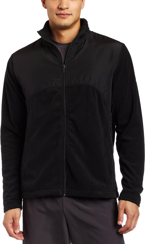 Reebok Men's Micro Fleece Full Zip Jacket,Black,X-Large