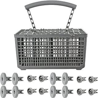 Spares2go Cutlery Basket & Rack Wheels For Zanussi Dishwasher (8 Upper + 8 Lower Wheels)
