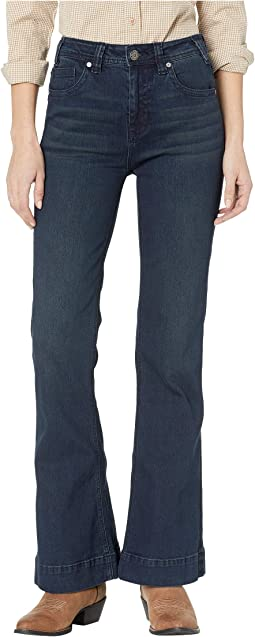 High-Rise Trousers in Dark Wash W8H9223