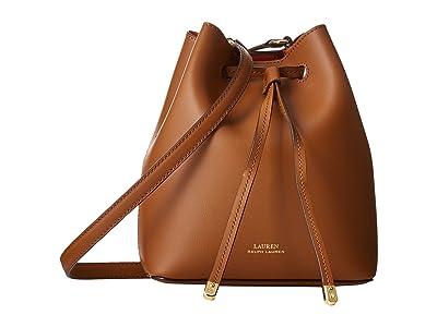 LAUREN Ralph Lauren Dryden Debby II Mini Drawstring (Field Brown/Monarch Orange) Handbags