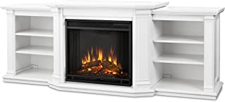 Real Flame 7930E-W Entertainment Valmont Electric Fireplace in White, Large,