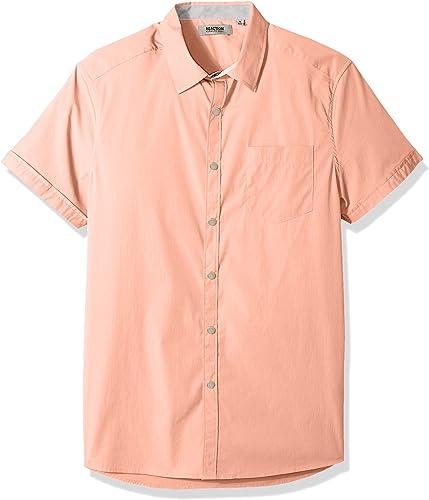 Kenneth Cole REACTION Hommes's manche courte Stretch Snap Shirt, lumière Sorbet, petit