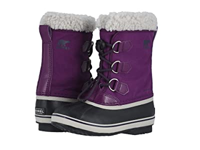 SOREL Kids Yoot Pac Nylon (Little Kid/Big Kid) (Wild Iris/Dark Plum) Girls Shoes