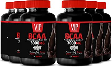Muscle Growth Supplements for Women - BCAA 3000 MG - BRANCHED Chain Amino Acid - l-leucine, l-isoleucine and l-valine - 6B...