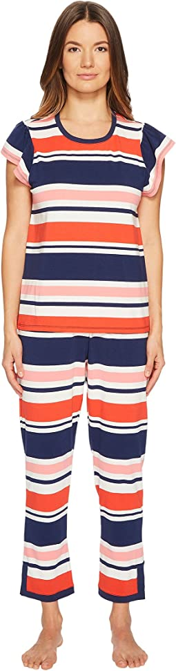 Kate Spade New York - Multi Stripe Pajama Set