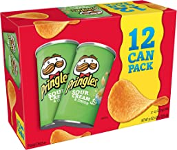 Pringles Potato Crisps Chips, Sour Cream & Onion, 2.5oz (12 Count)