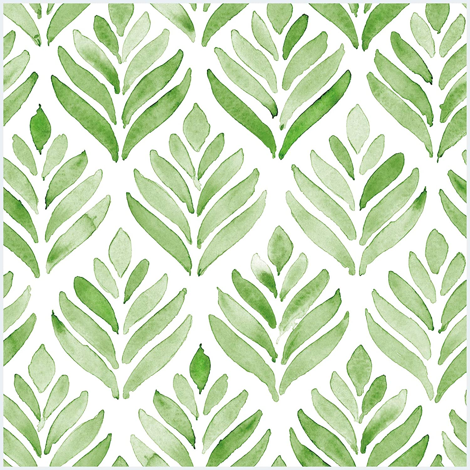 Excellent HaokHome Free shipping on posting reviews 96031-1 Peel and Stick Tulip Leave Watercolor Wallpaper