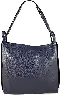 Freyday 2in1 Damen Handtaschen-Rucksack Henkeltasche aus 100% Echtleder