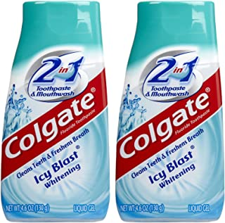 Colgate 2 in 1 Whitening Icy Blast Toothpaste & Mouthwash, 4.6oz, 2pk