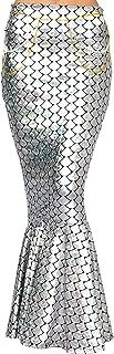 Adult Metallic Hologram Shiny Mermaid Skirt Costume Role Play. Waist Pearl Chain Included