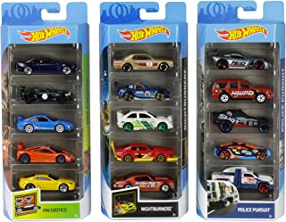 Hot Wheels American 5-Pack 1:64 Scale Die-Cast Cars Collectors of All Ages Premium Graphics Exclusive Great Gift Idea 3 Ye...
