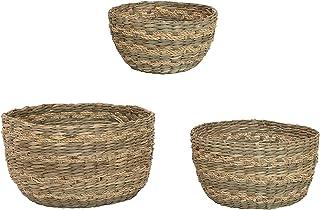 Bloomingville Seagrass, Natural, Set of 3 Basket, 3