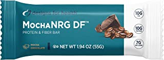 Designs for Health MochaNRG DF - Fiber Functional Food Bars with 10g Pea + Hemp Protein, Dairy-Free Energy Support Bar wit...