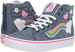 (Rainbow Sidestripe) Denim/True White