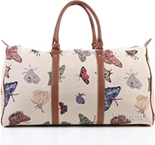 Tapestry Women's Big Holdall Carry On Travel Luggage Bag Butterfly (BHOLD-BUTT)