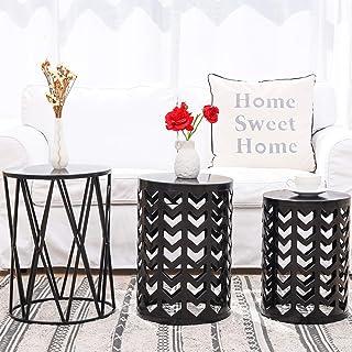 Amazon Com Nesting Tables Black Metal Nesting Tables Tables Home Kitchen