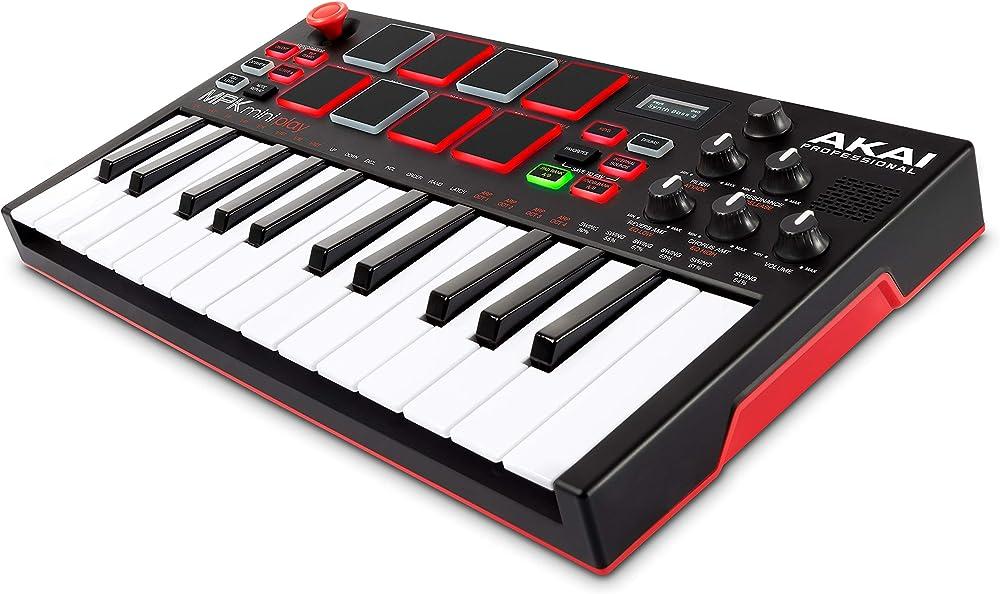Akai professional mini tastiera midi usb controller indipendente con casse integrati, pad in stile mp MPK Mini Play