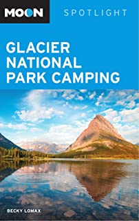 Moon Spotlight Glacier National Park Camping