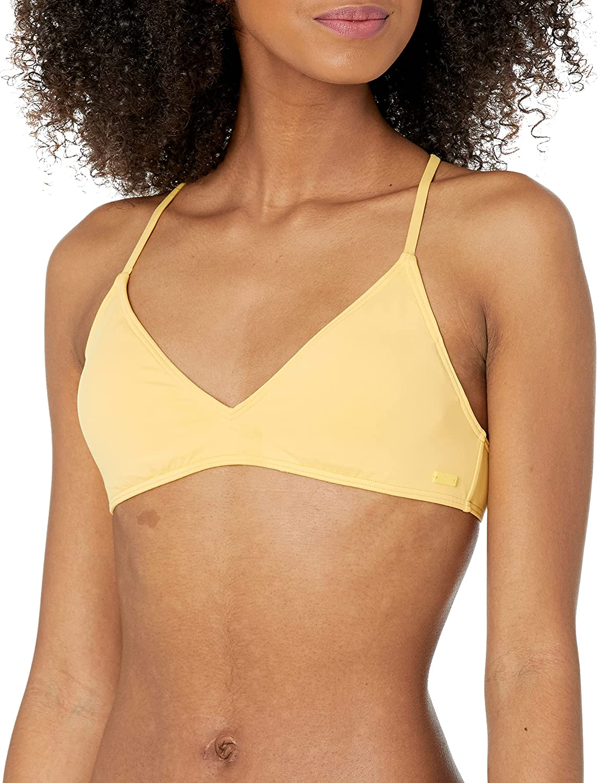 Roxy Women's Standard Solid Beach Classics Athletic Tri Bikini Top