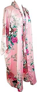 Kimono Robe Long 16 Colors Premium Peacock Bridesmaid Bridal Shower Womens Gift