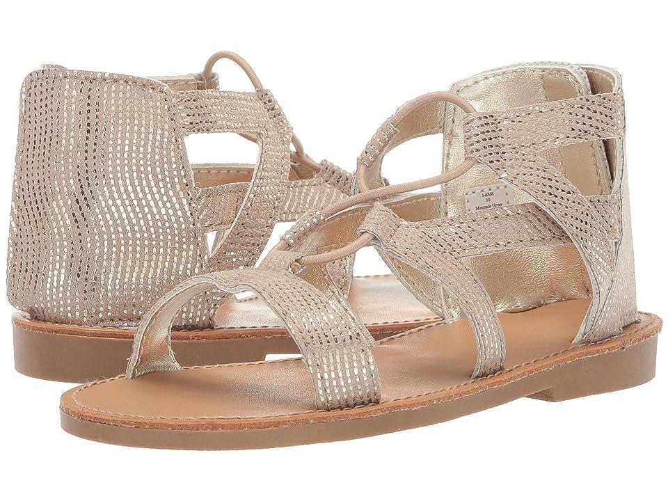Baby Deer Foil-Print Gladiator Sandal Walk (Infant/Toddler/Little Kid) (Gold) Girls Shoes