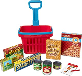 Melissa & Doug Fill & Roll Grocery Basket Play Set (Play...